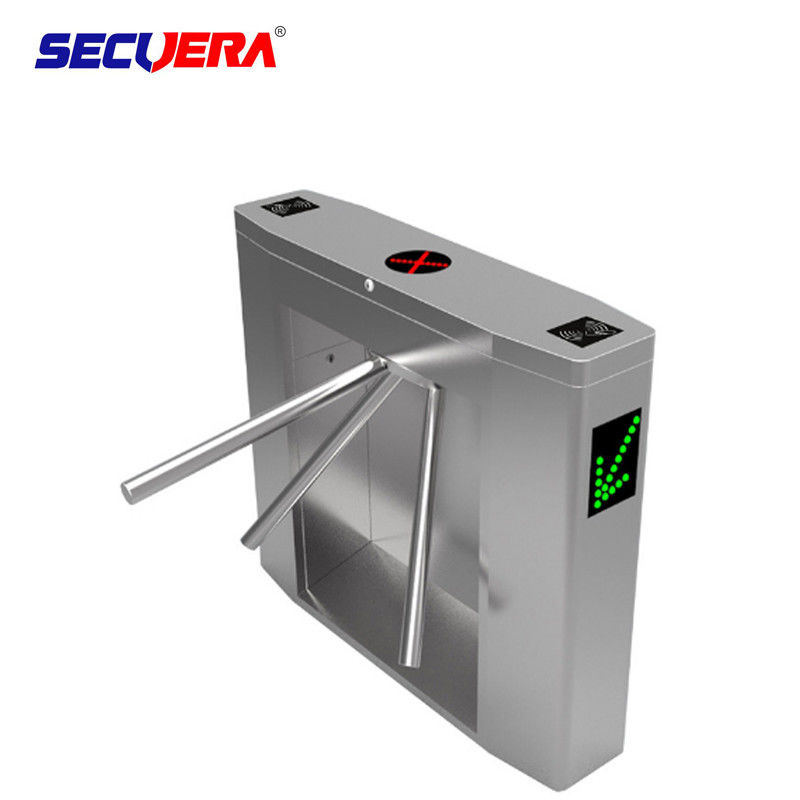 Entrance Low prices Access control 304 stainless steel security flap turnstile with fingerprint reader /face recognition