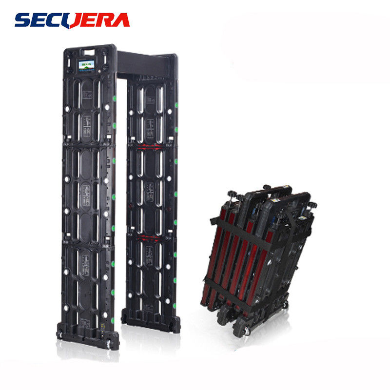 easy taking Portable 255 Sensitivity 24 Zones walk through metal detector door